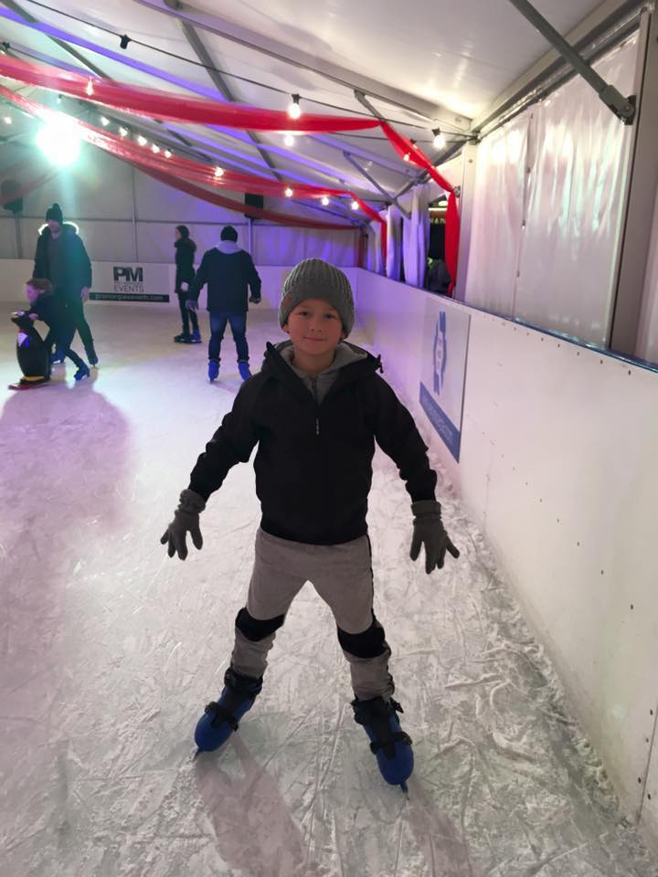 Cayden Ice skating