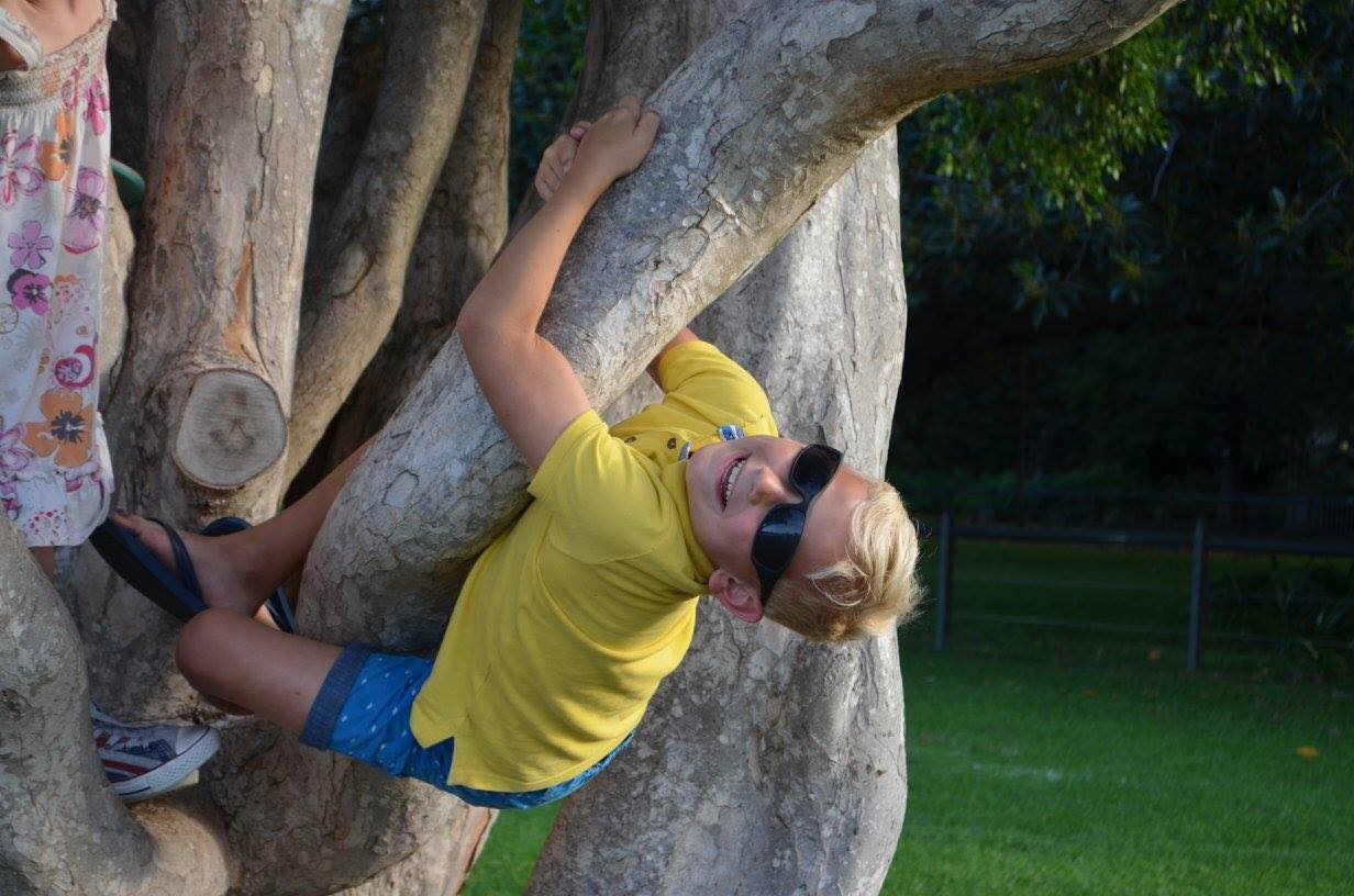 Cayden Tree Climbing in Australia
