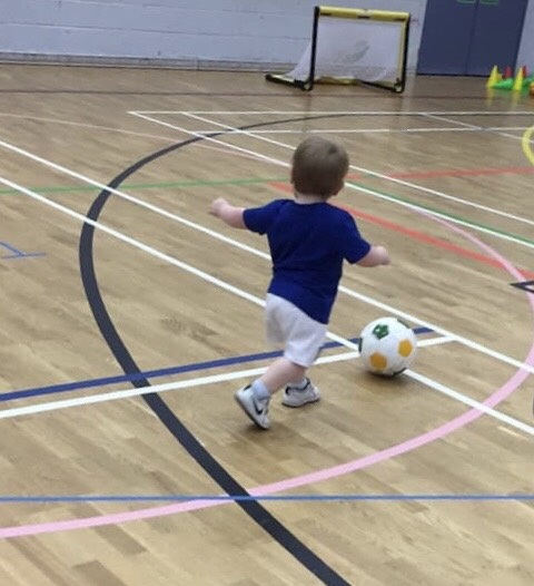 Teddy, aged 1, at babyballers